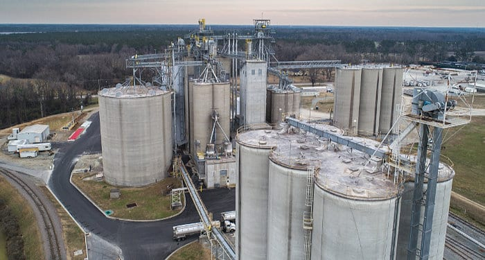Slip-Form Concrete Silo Construction